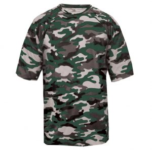 Badger Men's Camo Short Sleeved Tee