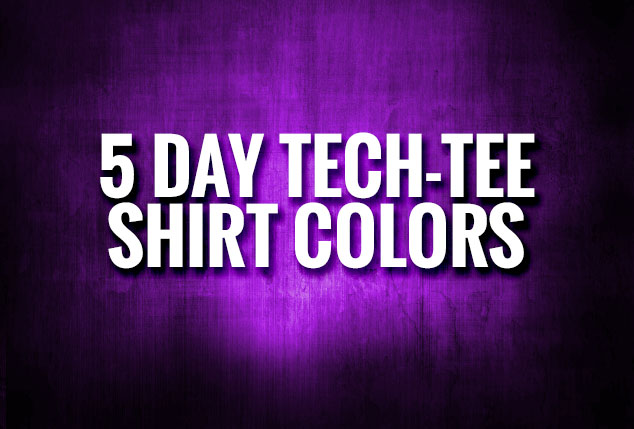 5 Day Tee Colors