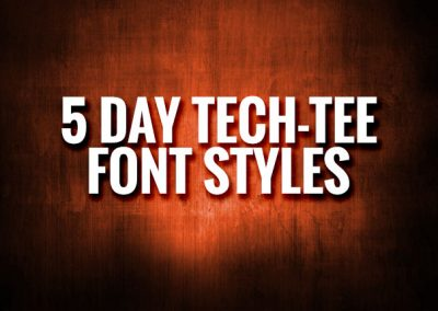 5 Day Tee Lettering & Numbering