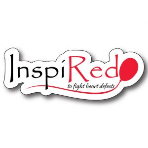 Red Balloon 4 Heart Defects 4″ Decal