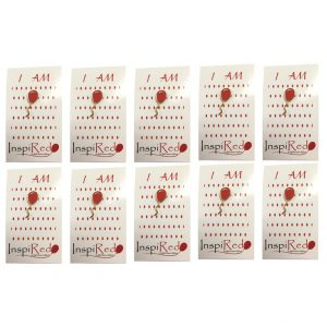 Red Balloon 4 Heart Defects Pin 10 Pack