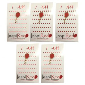 Red Balloon 4 Heart Defects Pin 5 Pack
