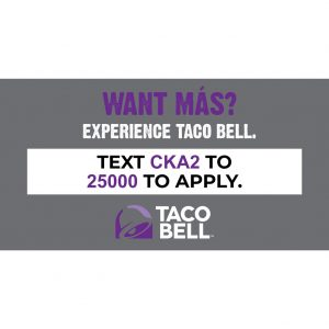 Taco Bell New Hire Window Cling – 46″ W x 24″ H