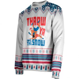 Worldwide Sport Supply Throw Ya Through The Snow Ugly Christmas Sweater