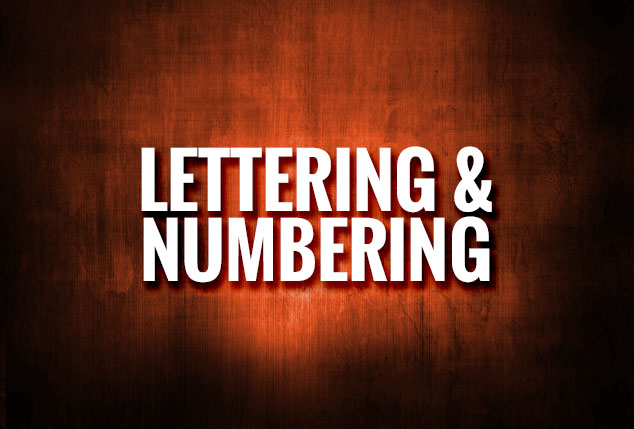 Lettering & Numbering