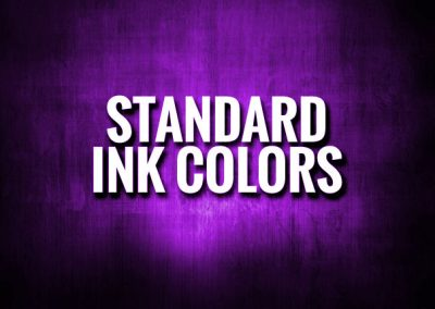Standard Ink Colors